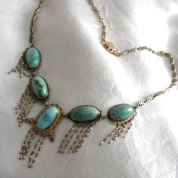 Gold, Turquoise and Seed Pearls - Fine Jewelry