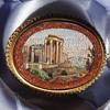 18K Micro Mosaic Ruin Goldstone Brooch