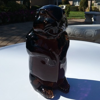 Imperial Glass woodchuck/gopher  - Animals