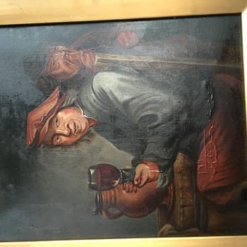 Old oil paintingDrop - Fine Art