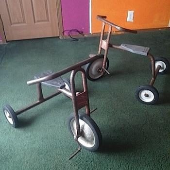 Two Old Trikes - Toys