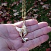 Sarah Coventry Pendant Necklace - Golden Dove
