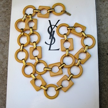 YSL 1970's butter bakelite link belt  - Accessories