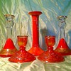 Mix orange candlesticks