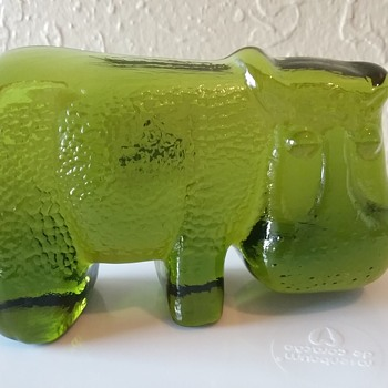 My Hippos  - Art Glass