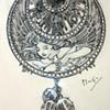 """1900 Alphonse Mucha """"Dessin de Montre"""" Jewelry Design Illustration for Georges Fouquet"""