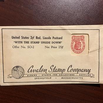 Novelty, Real ?? 2-cent postcard stamp on bottom - Postcards