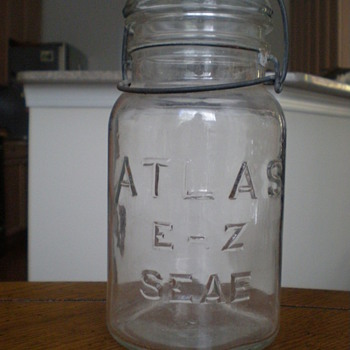 Unique Hazel-Atlas Canning Jar