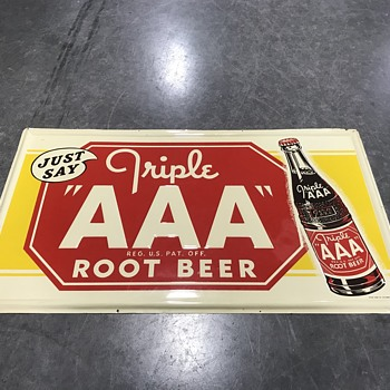 AAA Root beer sign 3ft long  - Signs