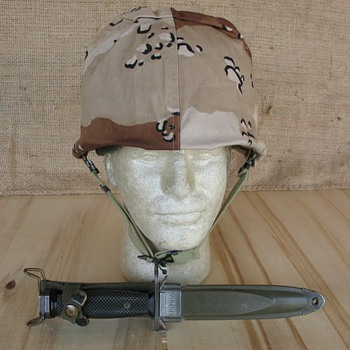 "US Six Color Desert Camo M1 Helmet ""Choc Chip"" camo"