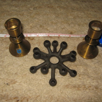 Mid-Century Scandinavian candle holders: Dansk spider & Bollnaes - Mid-Century Modern
