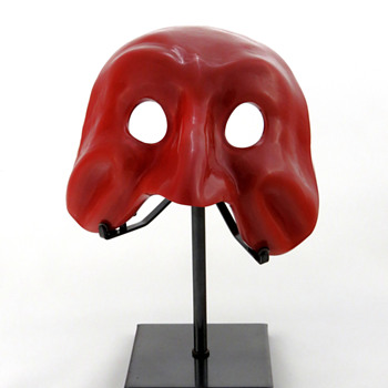 Venini Opaque Red Mask ca. 1988 - Art Glass