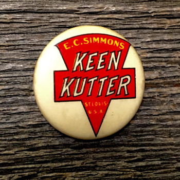 Keen Kutter Pin-back Button - Advertising