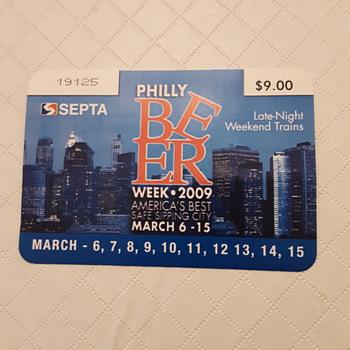 2009 Septa Philadelphia Beer Week Pass - Breweriana