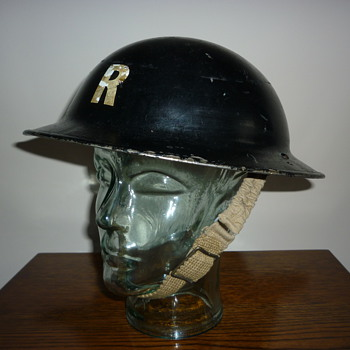 British WWII Rescue Party steel helmet