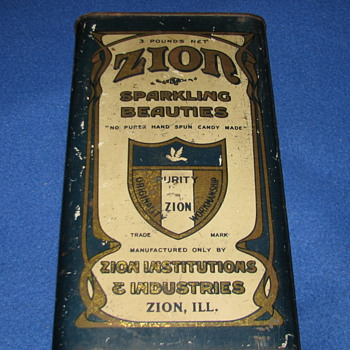 Vintage Zion Sparkling Beauties Candy Tin
