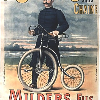 "Original 1893 ""Milders Fils"" Cyclone Lithograph Poster - Posters and Prints"