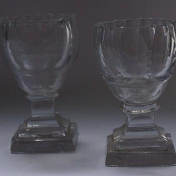 A Pair of Pedestal Salts - Glassware