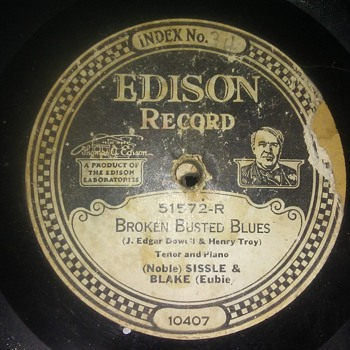 Is Thomas A. Edison Back Far Enough For You...For Now??..On 78 RPM Shellac - Records