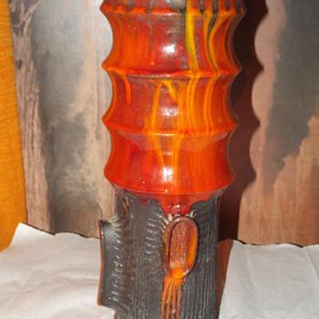 lava drip glazed vase  - Pottery