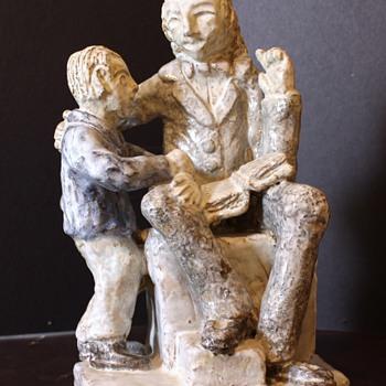 Reader Statue, help identify please - Pottery