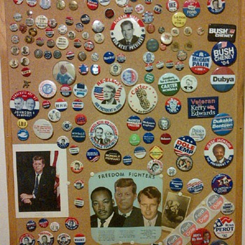 Political Pin Collection - Medals Pins and Badges