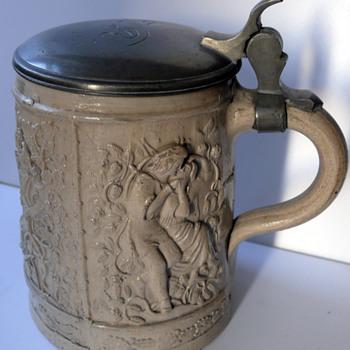 1835 moulded beer stein