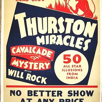 "Original 1938 Thurston ""Miracles"" Poster"
