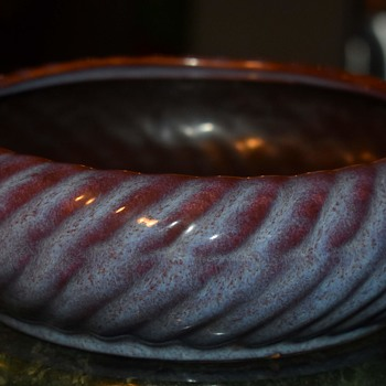 Art Pottery Low Bowl - Pottery
