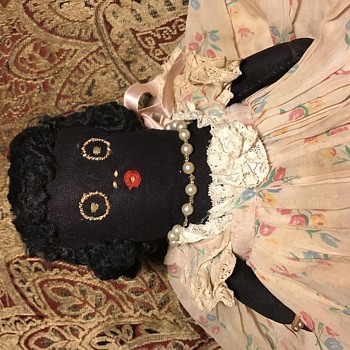 Antique Black Rag Doll - Dolls