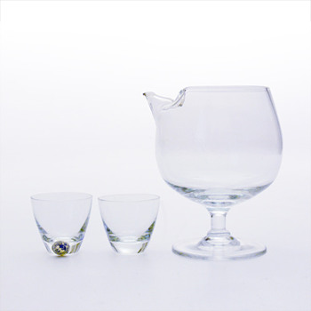 TIVOLI mixer  (1958) and COPENHAGEN glasses (1953), Per Lütken (Holmegaard) - Art Glass