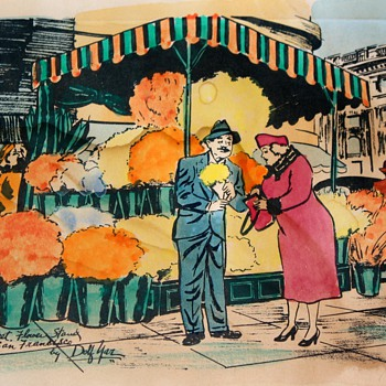 Dolf Yar ? Watercolored Prints of some kind? - San Francisco Street Scenes