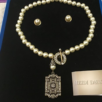 Heidi Daus Necklace and Earring set - Costume Jewelry