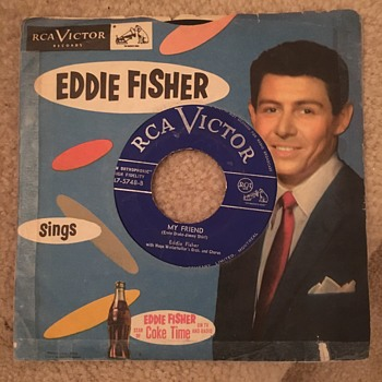Mid 50's Eddie Fisher Record with Coca-Cola Ad - Coca-Cola
