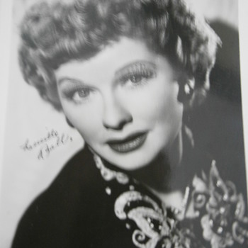 The face of comedienne Lucille Ball, I Love Lucy. - Postcards