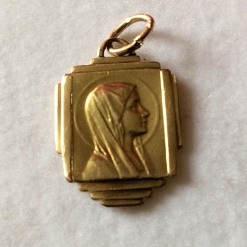 Old gold pendant - Fine Jewelry