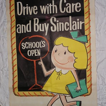 Vintage 1950's original Sinclair quick change posters. Made by the Pratt Poster Company. - Petroliana
