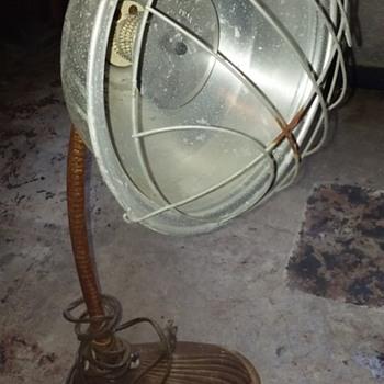 old PRAK-T-KAL electric radiant heater on gooseneck base  - Electronics