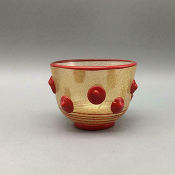 ochoko (sake cup) by Iwata Hisatoshi - Art Glass