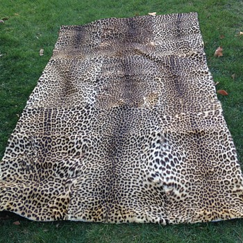 Vintage Leopard Skin Rug - Rugs and Textiles