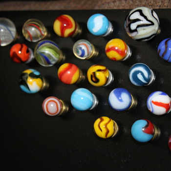 Variety of new marbles