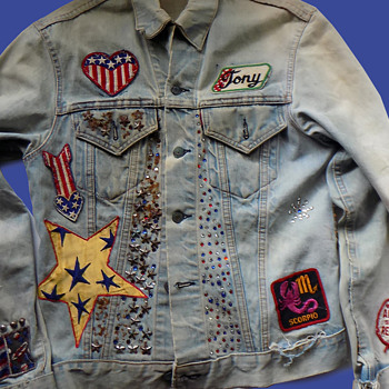 OUTSTANDING Levis Big E 1960's California Hippie Jacket - Mens Clothing