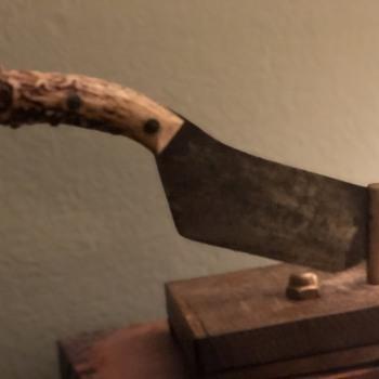 Handmade tobacco cutter - Tobacciana