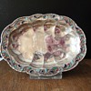 RUSSIAN ENAMELED IMPERIAL SILVER SCALLOPED DISH for jewelry?
