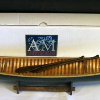 what NOT to buy when thinking of collecting  'salesman's sample', 'factory display' or Native American canoe models - Advertising