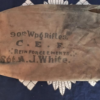 WWI 90th Winnipeg Rifles CEF Duffle Bag  - Military and Wartime