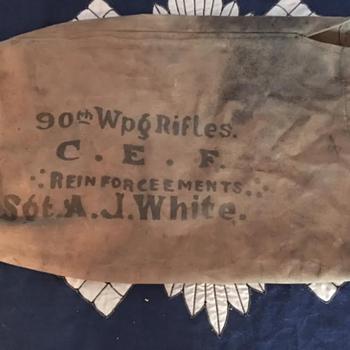 WWI 90th Winnipeg Rifles CEF Duffle Bag  - Military and Wartime