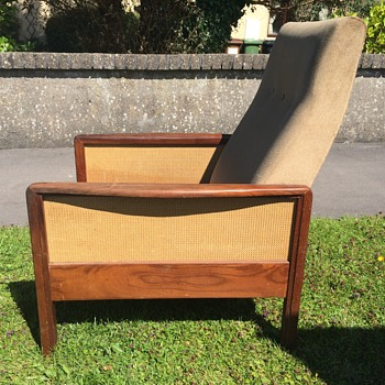Teak and cane retro chair - Furniture