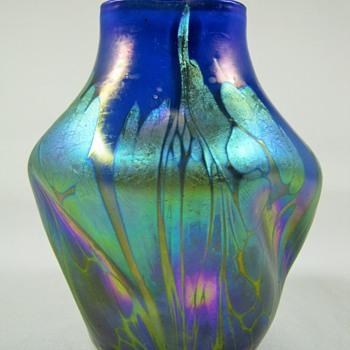 Loetz Phänomen Genre 2/484 Blue Opal Medici ca. 1902 - Art Glass