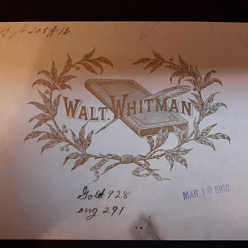 Walt Whitman cigar label circa 1908 - Tobacciana